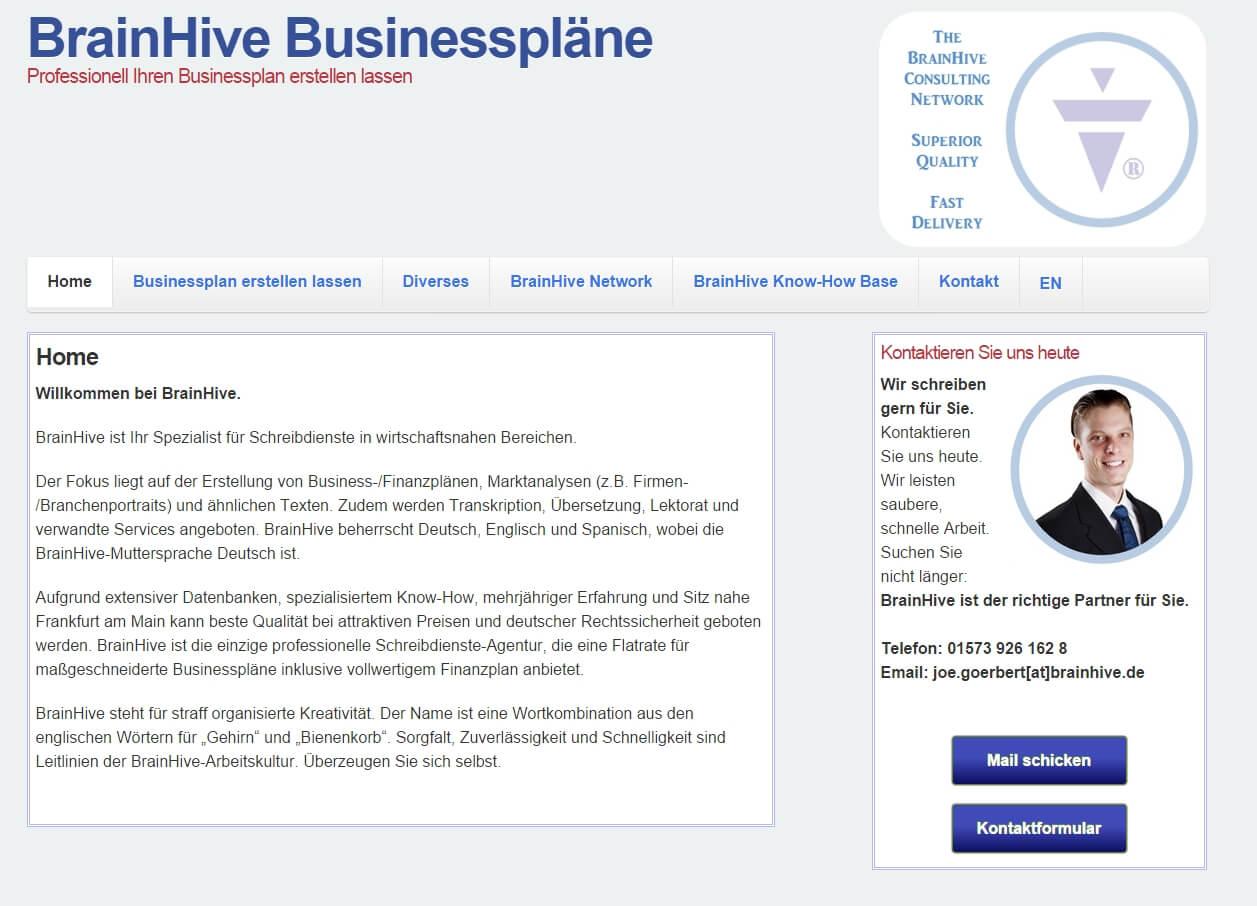 BrainHive.de-Businessplan erstellen lassen-1